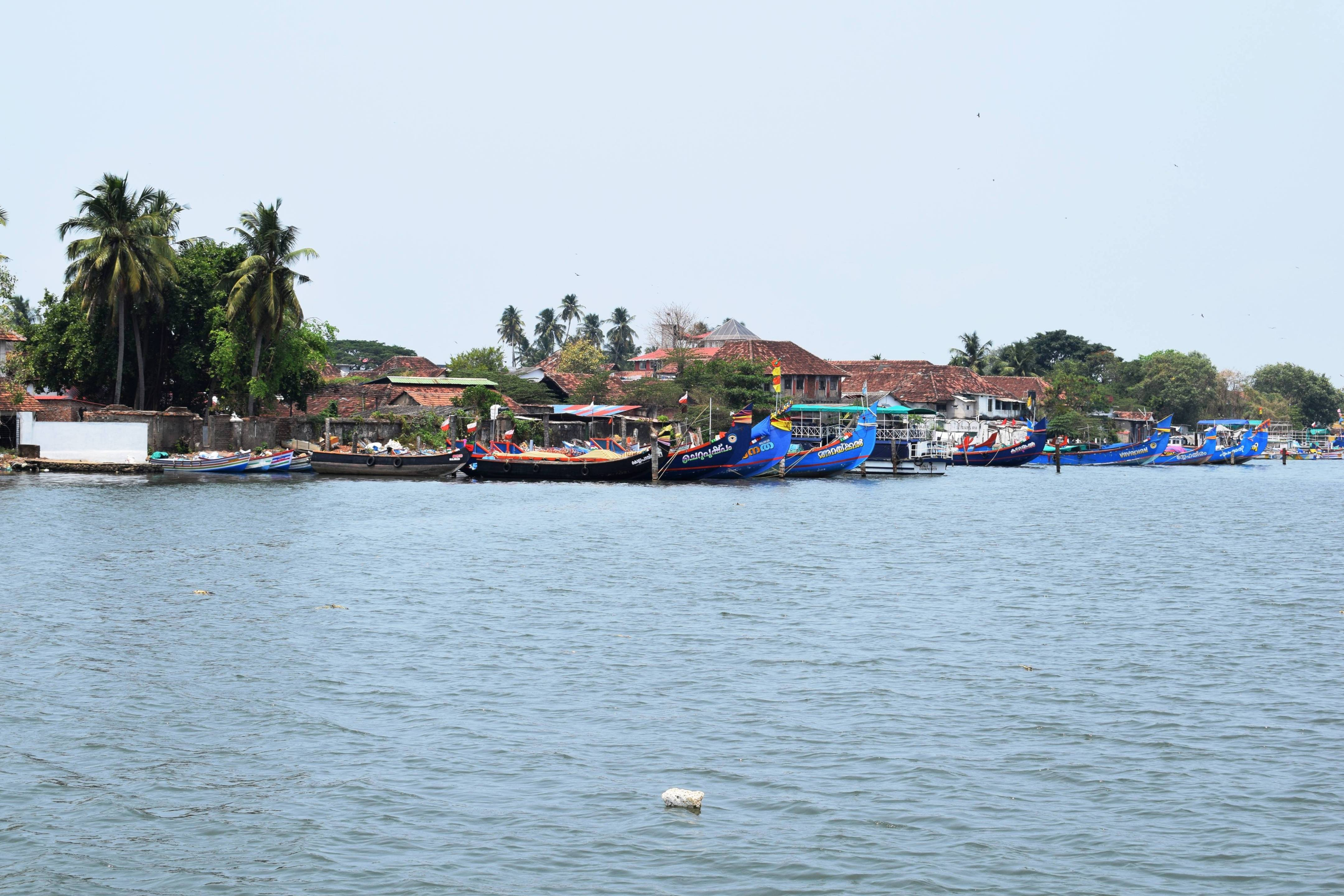 Traditional fishing boats from Mattanchery