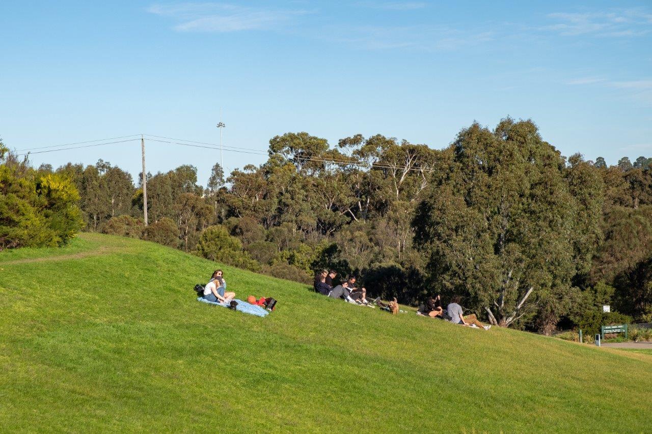 Ramsden Reserve, Clifton Hill adjacent to Merri Creek.